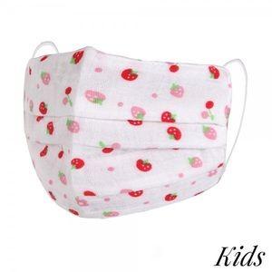 🆕Strawberry print kids reusable face mask